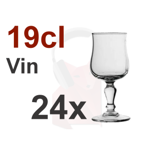 Location de 24 verres à vin 19cl Normandy