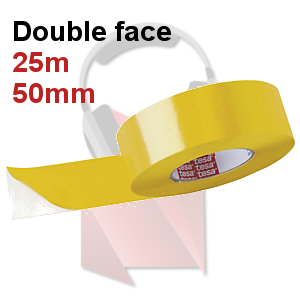 Adhesif Double face fin Extra Fort 50mm longeur 25m