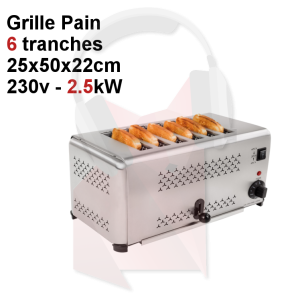 Location grille pain professionnel, 6 tranches
