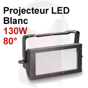 Location projecteur LED 130w Blanc fonction Strobe Grand angle RGB