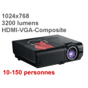 Location Videoprojecteur HDMI 3200 Lumens Contraste 4000:1