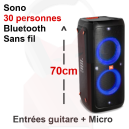 Location sono 30 personnes 160W Bluetooth sur batterie