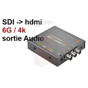 Location convertisseur SDI 6G vers hdmi + audio