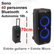 Location sono 40 personnes 240W Bluetooth sur batterie