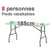 Location Table rectangulaire 6/8 pers pliante