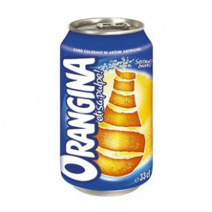 Orangina - 24 canettes de 33cl - Boisson gazeuse à l'orange