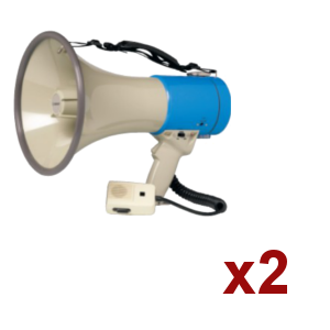 Location 2x Megaphone Rondson 25W