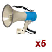 Location 5x Megaphone Rondson 25W