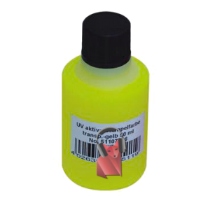 Encre UV-active, jaune transparente, 50ml