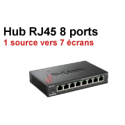 Location hub switch Gibabit RJ45 8 ports