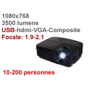 Location videoprojecteur USB hdmi 1024x768 3500 Lumens