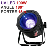Location projecteur DMX LED UV 100W ultra puissant grand angle