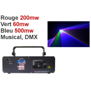 Location laser 800mw RGB RGB DMX ou musical