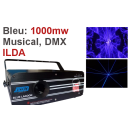 Location laser bleu 1000mw Musical, ILDA, DMX