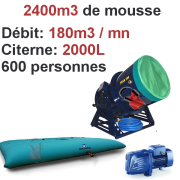 Location machine à Mousse SFAT Power Foam 500 200m3 / minute avec liquide